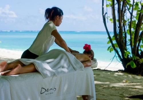 denis island beach massage