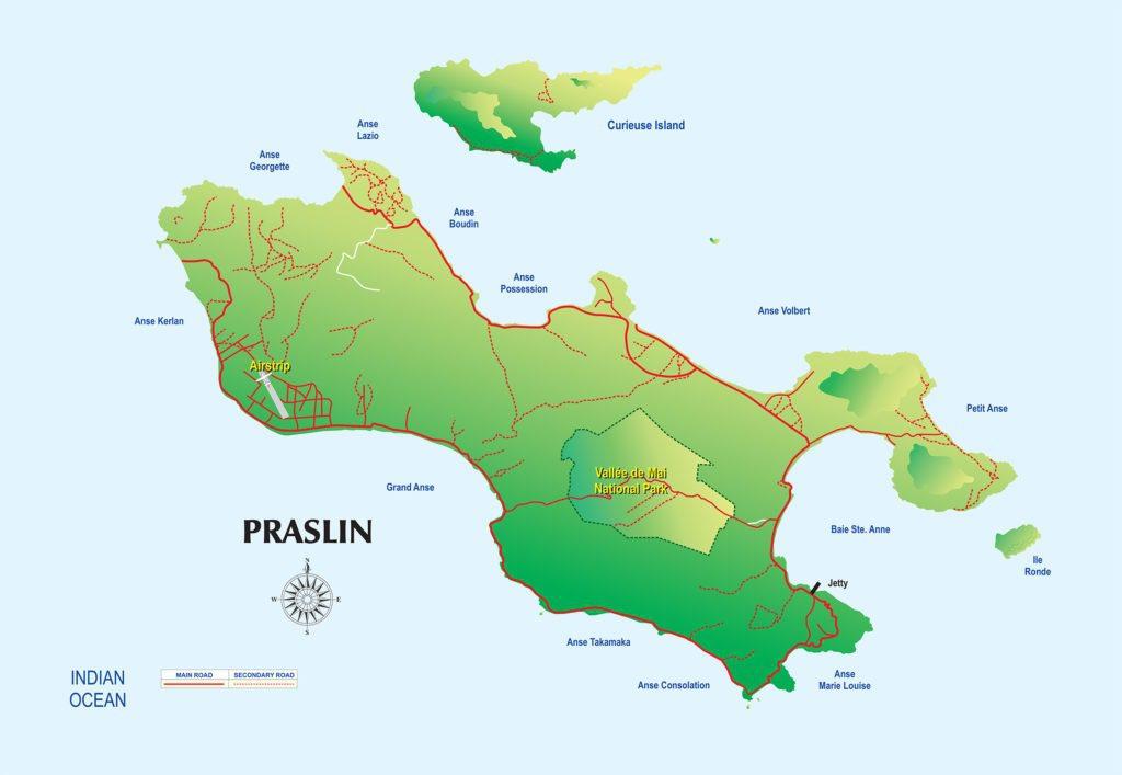 Map Of Seychelles Island Holidays In Seychelles