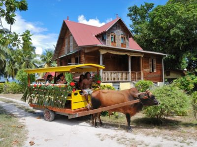 La Digue_Ox Cart & Old House