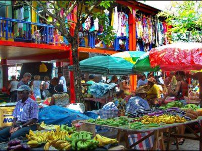 Mahe Island Colourful Main Market