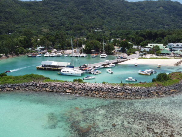 La Digue Jetty_Aerial View
